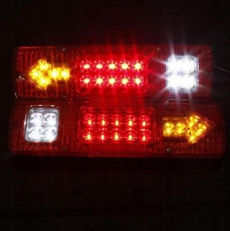 LED Lampa laweta przyczepa kierunki zespolona 12Vczerwona 30x8x2cm
