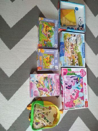 Gry Puzzle kubuś puchatek koniki pony i inne