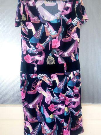 Продам красиве літнє плаття,з цікавим принтом