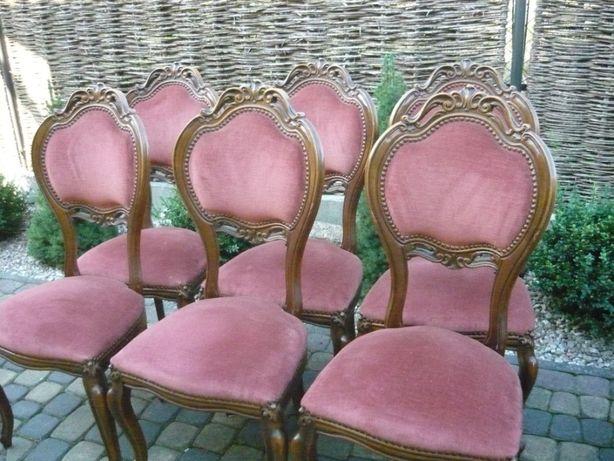 krzesła barok różowe