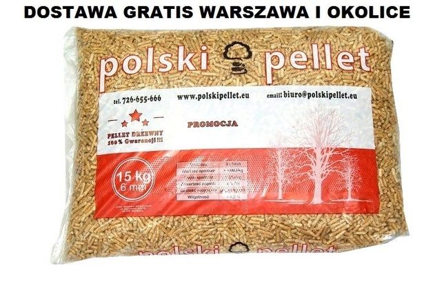 Pellet Pelet drzewny Brykiet Drewno mazowieckie Warszawa Polska