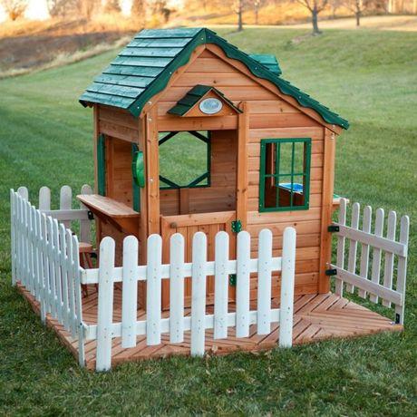 Детский Домик Для Игр (Натуральное Дерево)