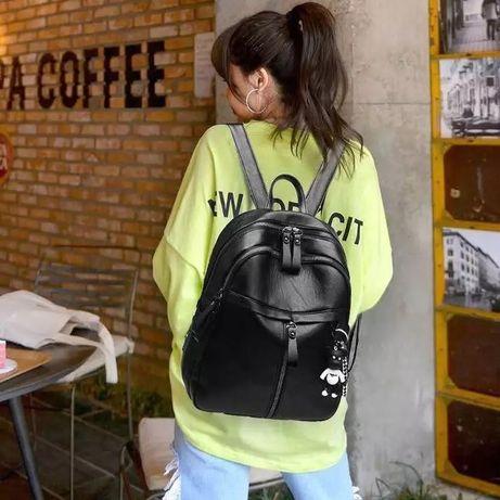 Продам рюкзак женский стильный с экокожи новый черный