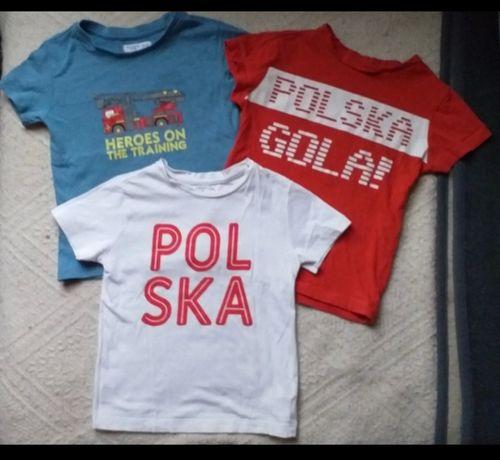 Polska 3 podkoszulki dla chlopca 104