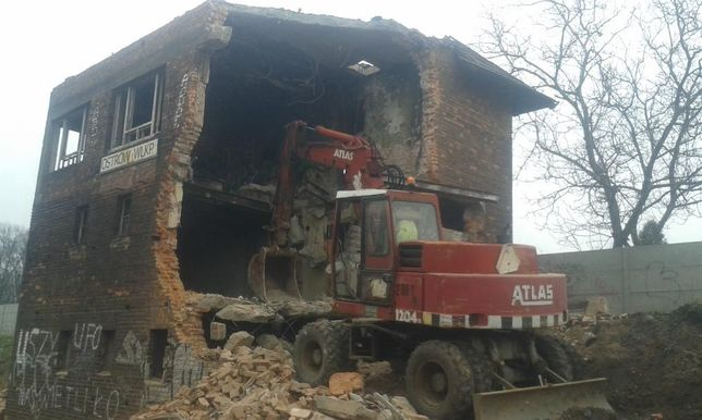 wywóz gruzu,koparka,rozbiórka,Krotoszyn, HDS,kruszywo betonowo-ceglane