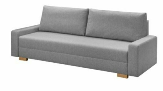 Ikea kanapa szara rozkładana z pojemnikiem
