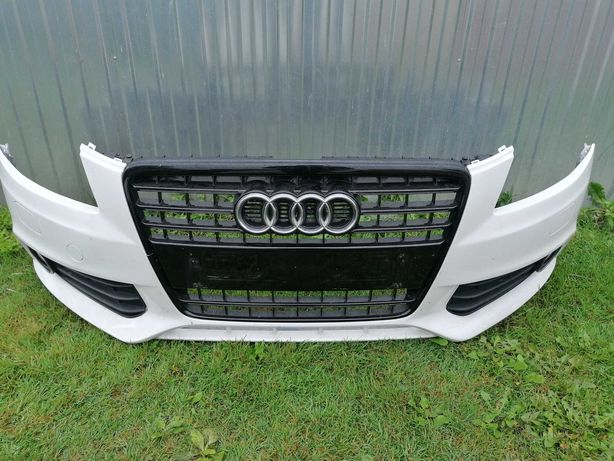 Audi A4 B8 08-11 zderzak przód LY9C czarny grill