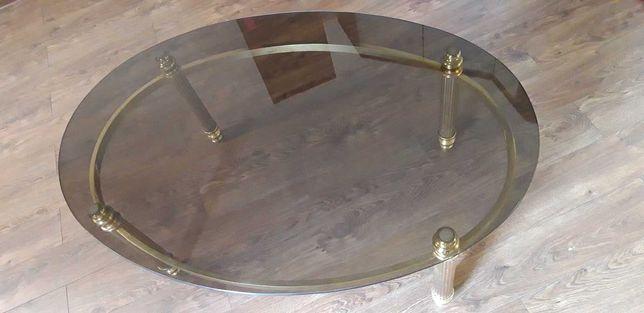 ława, mosiądz, szkło przyciemniane 125x85