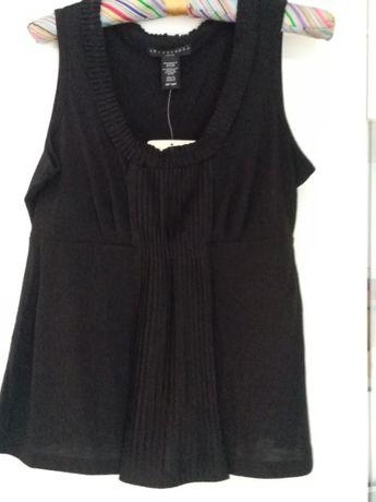 Czarna bluzka bez rękawów rozmiar M