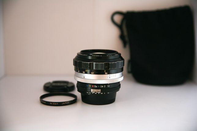 Nikon SC 55mm f1.2 Nikkor. Рідкісний. На Nikon, Canon. (50,55,1.4,1.8)
