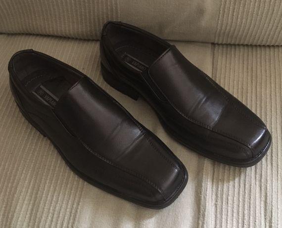 Buty 38 chłopięce czarne komunia wesele