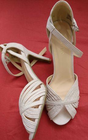 Nowe sandały na wysokim obcasie, szpilki 37 Anna Field
