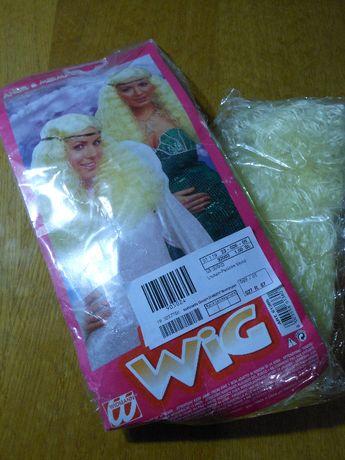 парик блондин 60 см (новый,запакован)