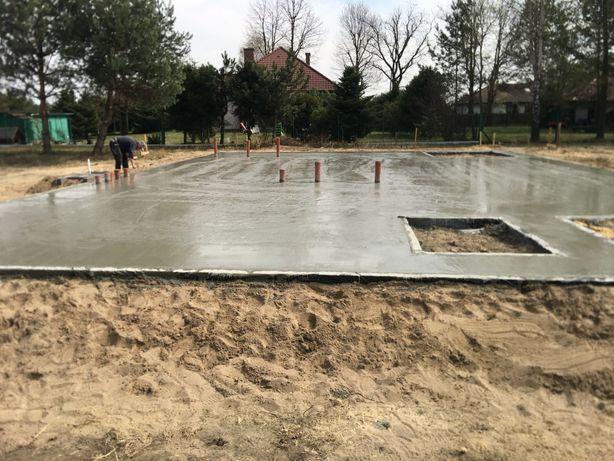 Płyty fundamentowe fundamenty budowa domów