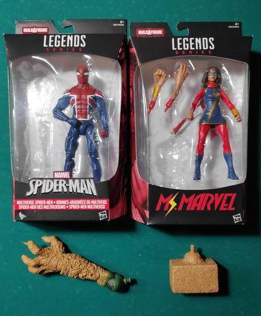 Marvel Legends: Ms Marvel, Spider UK, Sandman Bafs