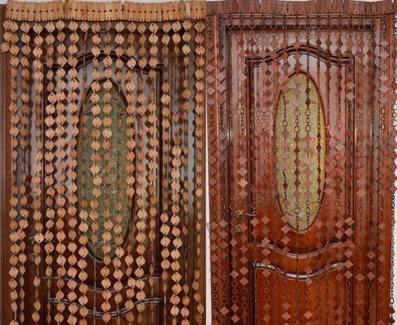 Деревянный занавес-штора для арочныйх и дверных проемов ручная работа)