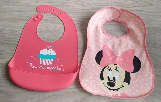 2 śliniaki dla dziewczynki Minnie Mouse + gratis