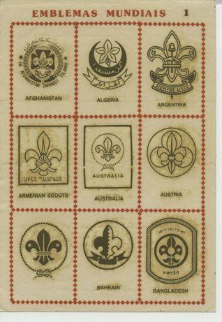 Autocolantes Escutismo - Emblemas Mundiais