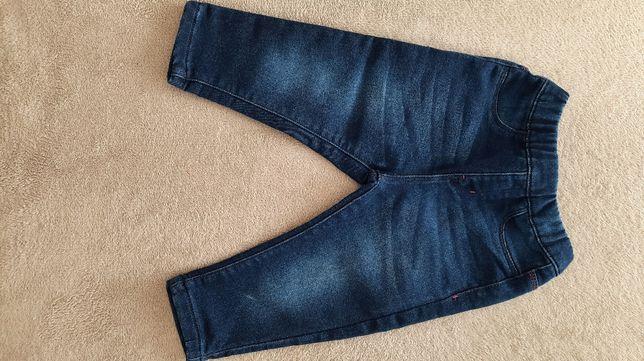 spodnie jeansowe dla dziewczynki rozmiar 80