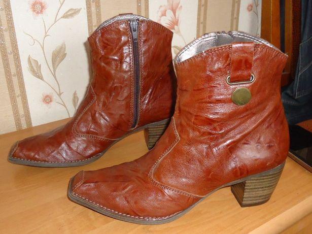 Женские кожаные полусапожки Roberto Santir, размер 38(25)