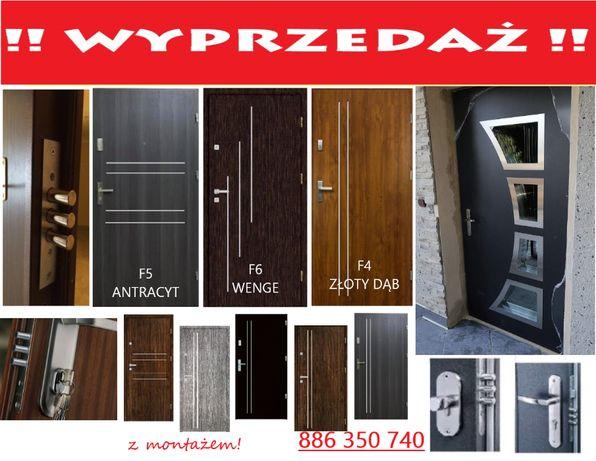 Drzwi wejściowe z montażem do mieszkań w bloku - ZEWNĘTRZNE wyciszone