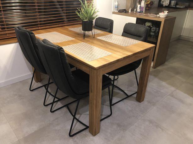 Stół dębowy 140x90 agata meble flax 140 jak nowy