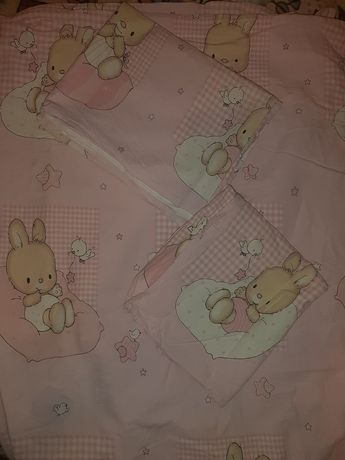 Постельное белье постельный комплект набор в кроватку для девочки