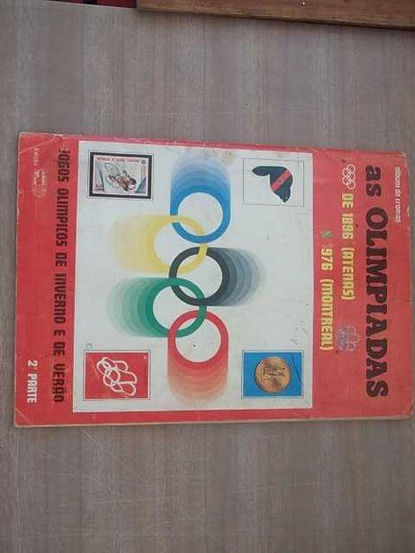 CADERNETA Cromos AS OLIMPÍADAS 1896/1976 - 2ª Parte «COMPLETA»