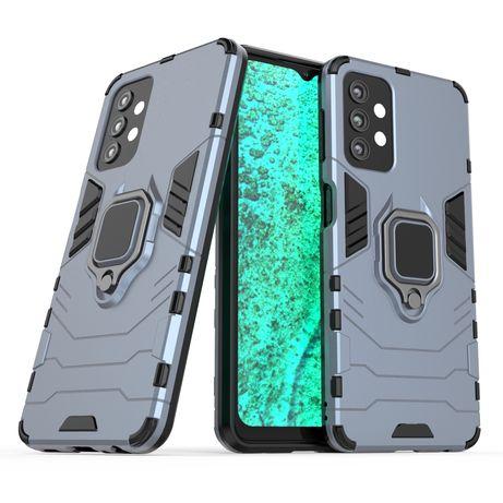 Capa Rígida/Semi Rígida Traseira Ring Case Kickstand Tough Rugged Cover Samsung Galaxy A32 5G Azul