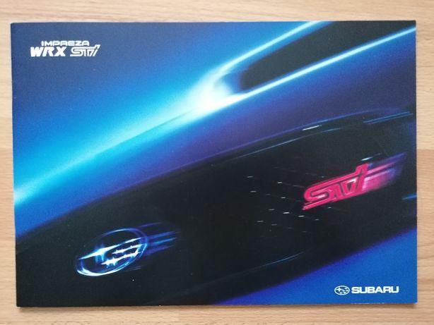 Prospekt Subaru Impreza II WRX STI 2004 rok.
