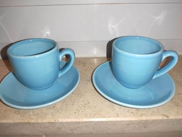 Chávenas de chá Vista Alegre Azul Ema Prato