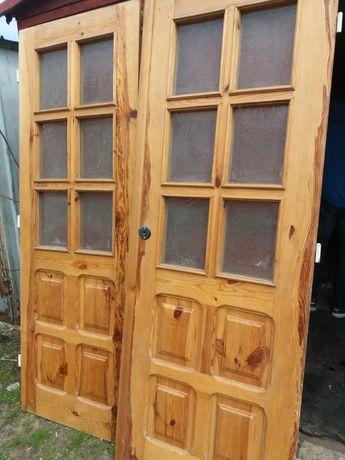 Drzwi drewniane 2szt
