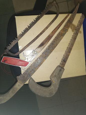 Stara piła, 4 sztuki, stare narzędzia.
