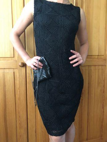 sukienka S/M czarna wizytowa elegancka na wesele i przyjęcia