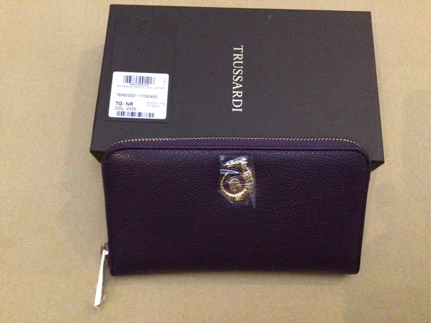 Кожаный кошелек Trussardi, Michael kors, шкіряний гаманець, Furla