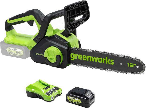 [NOVO] Motosserra + Bateria Greenworks • Garantia 3 anos