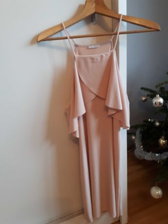 Pudrowa sukienke Zara S