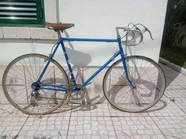 Bicicleta estrada Luxe homem classica vintage roda 28 Azul Tamanho 60