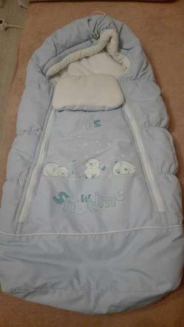 Теплый конверт для малыша, размер 62