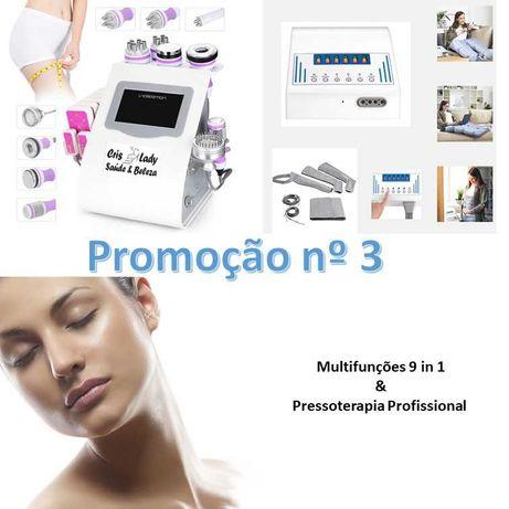 Máquina Multifunções Cavitação 9 in 1 +  Pressoterapia  Promoção Nº3