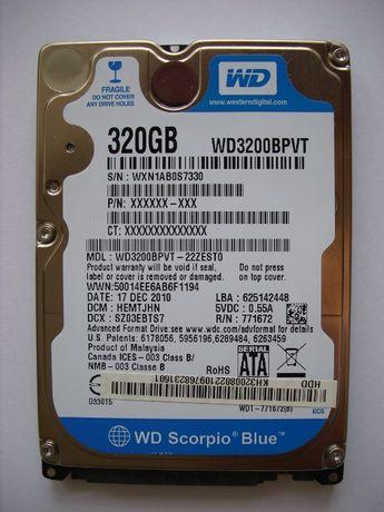 "Винчестер SATAII HDD 2,5"" 320Gb Western Digital"