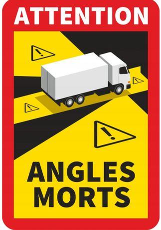 Naklejka Francja Angles Morts martwe pola TIR 1 szt - PREMIUM