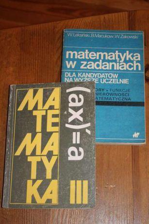 """""""Matematyka w zadaniach"""" i """"Matematyka"""""""