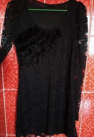 черное ажурное мини платье вечернее коктейльное короткое кружевное