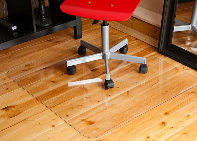Высокопрочный коврик-подложка под стулья, офисное кресло. 125х100 см.