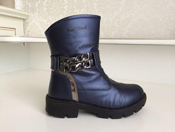 Сапоги ботинки девочке ортопед кожа премиум X-kids Турция р29