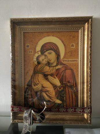 Янтарная Икона пресвятой богородицы Владимирской