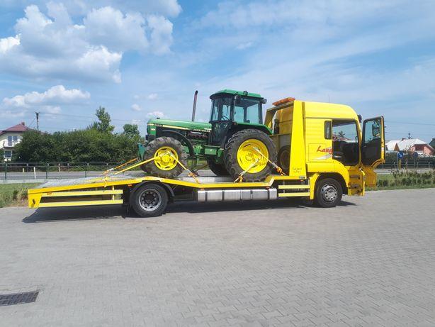 pomoc drogowa transport maszyn rolniczych laweta