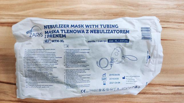 Maska tlenowa z nebulizatorem i drenem sterylna ZARYS rozmiar M i XL
