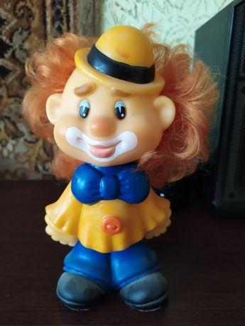 Клоун, резиновая игрушка СССР